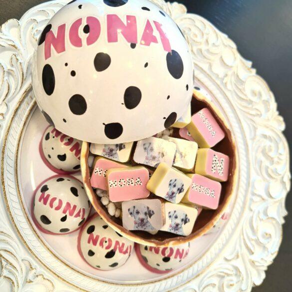 Chocolade in dalmatiër thema