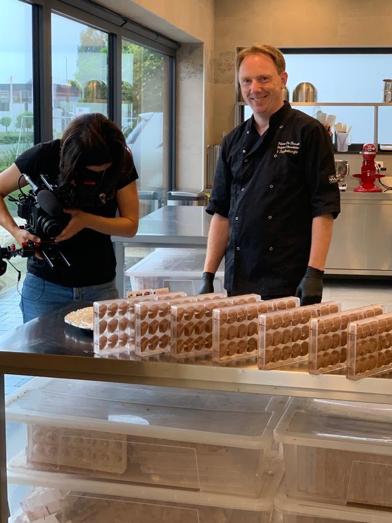 Unizo filmt chocolatier Hans De Boodt